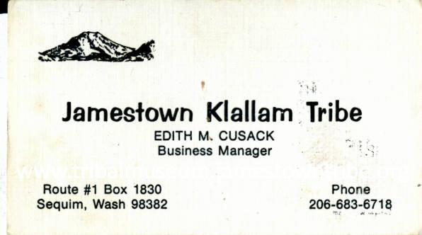 Business Card of Business Manager of Tribe