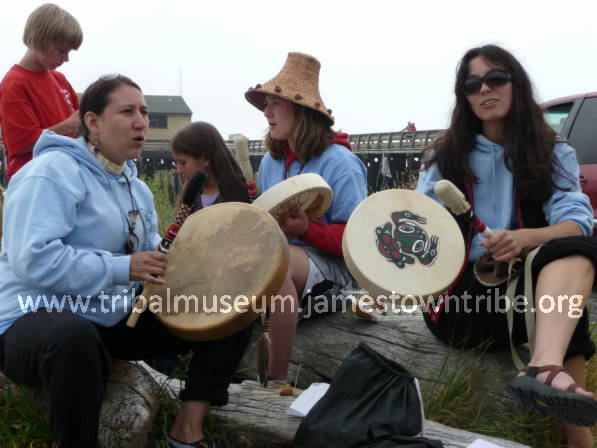 Kregg Thaens, Emmy Champagne-Gray, Kissendrah Johnson, Nikki Sather and Andrea Champagne, Fort Worden State Park, WA, 2010