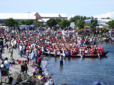Intertribal Canoe Journey at Elwha, Hollywood Beach, WA, 2005
