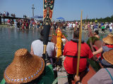 Intertribal Canoe Journey at Port Gamble, Gamble Bay, WA, 2009