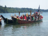 Intertribal Canoe Journey at Suquamish, Port Madison WA, 2009