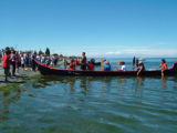 Intertribal Canoe Journey at Jamestown, Jamestown Beach, WA, 2005