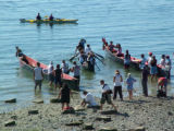 Intertribal Canoe Journey at Suquamish, Port Madison, WA, 2005