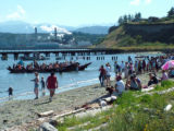 Intertribal Canoe Journey at Port Townsend, Fort Worden State Park, WA, 2005