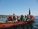 Intertribal Canoe Journey at Suquamish, Port Madison, WA, 2009