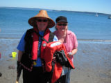 Janis King and Sherry Macgregor, Jamestown Beach, WA, 2010