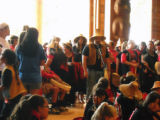 Intertribal Canoe Journey at Suquamish, House of Awakened Culture, WA, 2009