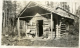 An early cabin dwelling, ca. 1910