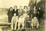 A group photograph of margaret Collier with co-workers, Keyport, WA